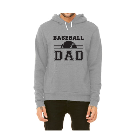 Baseball Dad Pullover Fleece Hoodie