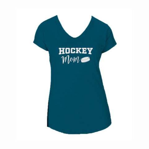 Hockey Mom V2 Triblend V-Neck Tee
