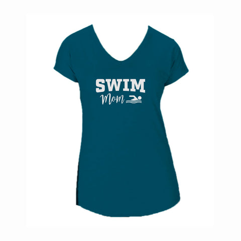 Swim Mom V2 Triblend V-Neck Tee