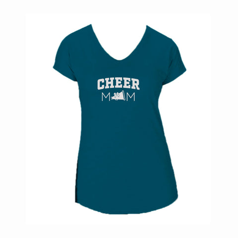 Cheer Mom V1 Triblend V-Neck Tee