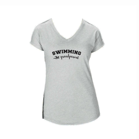Swim Grandparent Triblend V-Neck Tee