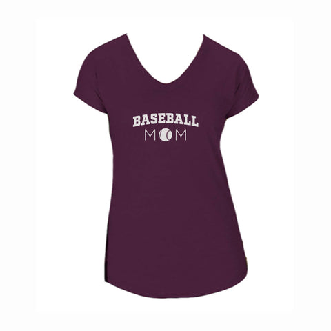 Baseball Mom V1 Triblend V-Neck Tee