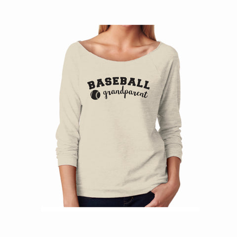 Baseball Grandparent Terry 3/4 Sleeve Raglan