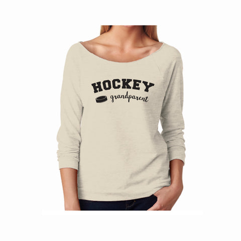 Hockey Grandparent Terry 3/4 Sleeve Raglan