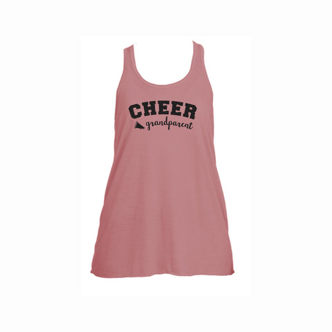Cheer Grandparent Flowy Racerback Tank
