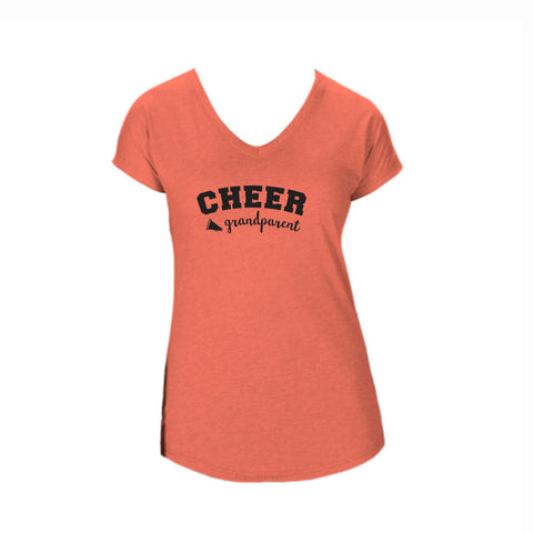 Cheer Grandparent Triblend V-Neck Tee