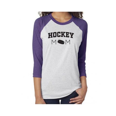 Hockey Mom V1 Tri-Blend 3/4-Sleeve Tee