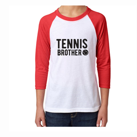 Tennis Brother Youth 3/4 Sleeve Tee