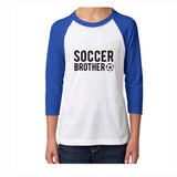 Soccer Brother Youth 3/4 Sleeve Tee