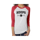 Hoops Mom V1 Tri-Blend 3/4-Sleeve Tee