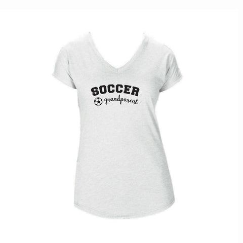 Soccer Grandparent Triblend V-Neck Tee
