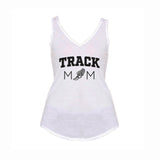 Track Mom V1 Flowy V-Neck Tank