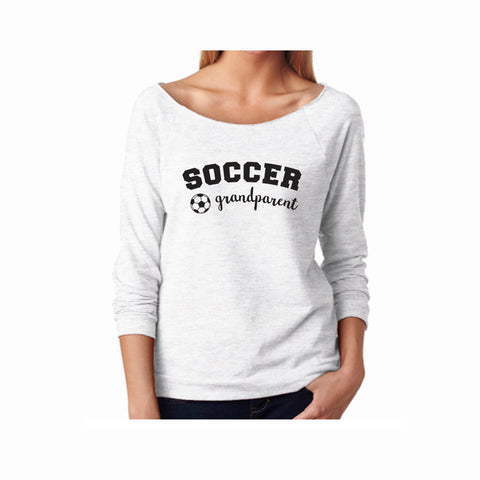 Soccer Grandparent Terry 3/4 Sleeve Raglan