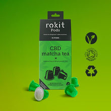 Load image into Gallery viewer, Rokit Pods CBD Matcha Green Tea Nespresso Pods 50mg (10 X 5mg Pods)