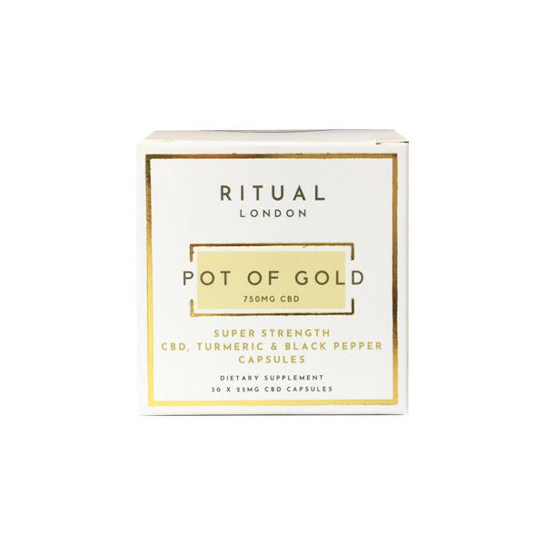 Ritual London CBD Capsules with Turmeric & Black Pepper - 750mg (25mgX 30) - cannabidolpharm.com