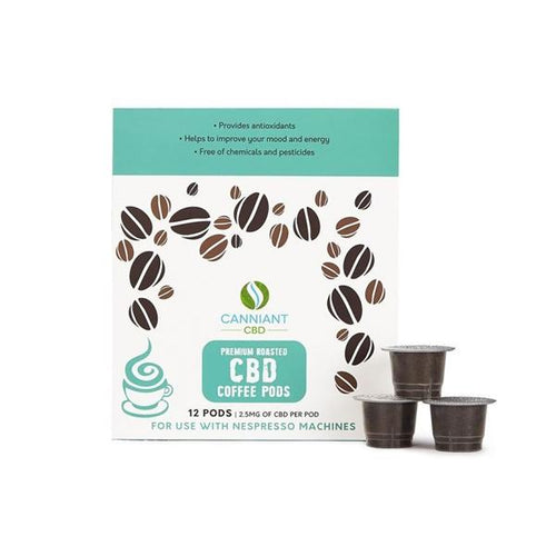 Canniant 30mg CBD Nespresso Coffee Pods - Pack of 12 - cannabidolpharm.com