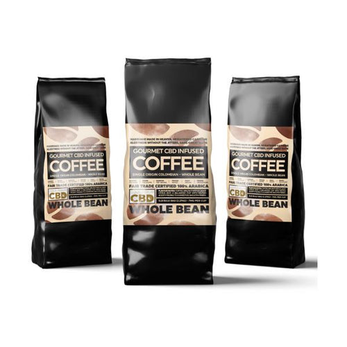 Equilibrium Gourmet Whole Bean CBD Coffee - 2270mg (2.27kg Bulk)