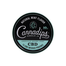 Load image into Gallery viewer, Cannadips 150mg CBD Snus Pouches - Natural Mint - cannabidolpharm.com