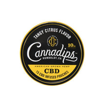 Load image into Gallery viewer, Cannadips 150mg CBD Snus Pouches - Tangy Citrus - cannabidolpharm.com
