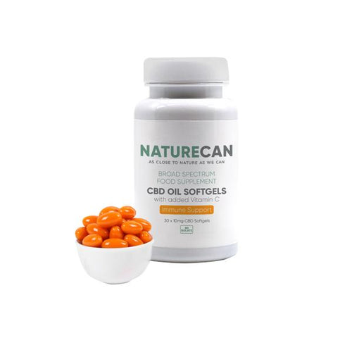 Naturecan Broad Spectrum CBD Oil Capsules with Vitamin C - 300mg (10mg X 30) - cannabidolpharm.com