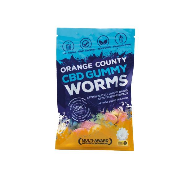 Orange County CBD Gummy Worms - 200mg (10mg X 20)