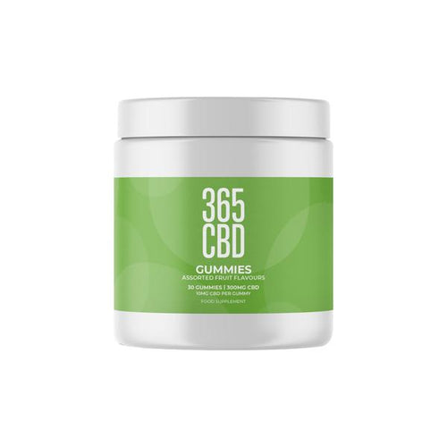 365CBD Assorted Fruit CBD Gummies - 300mg (10mg X 30)