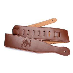 Adjustable Brown Leather Guitar Strap