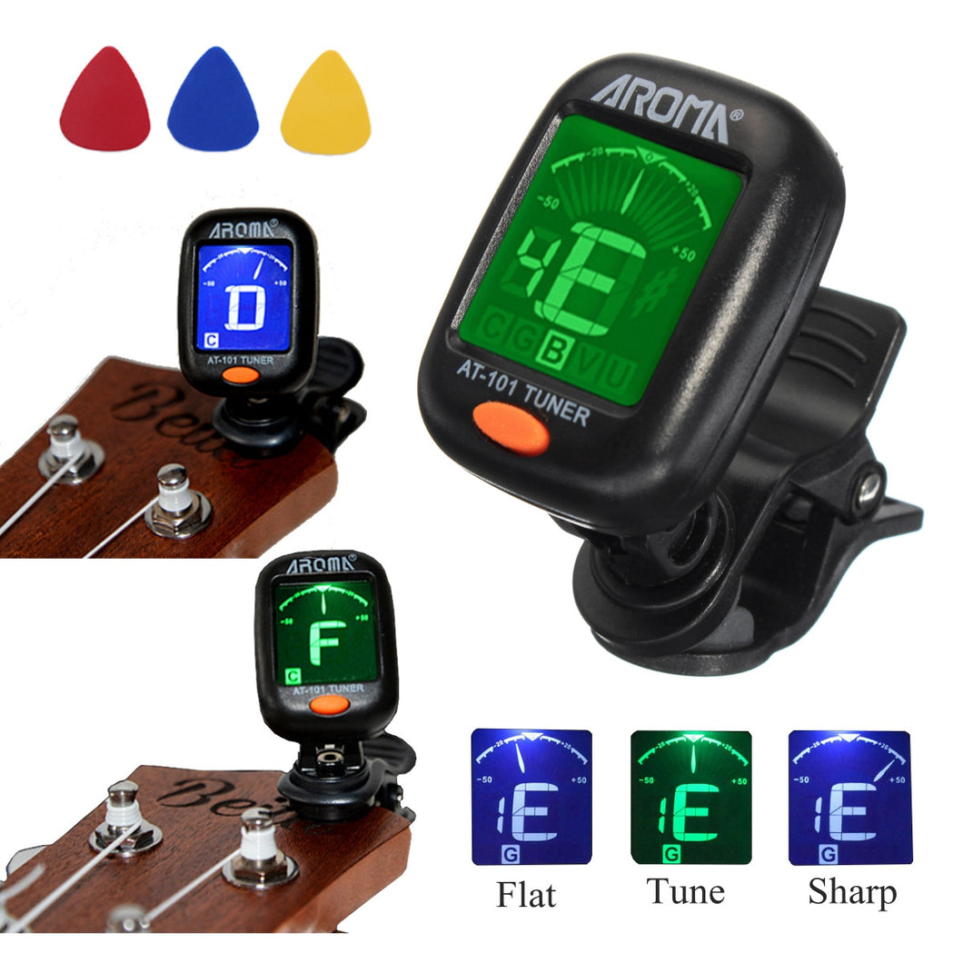 Digital Chromatic LCD Clip-On Tuner