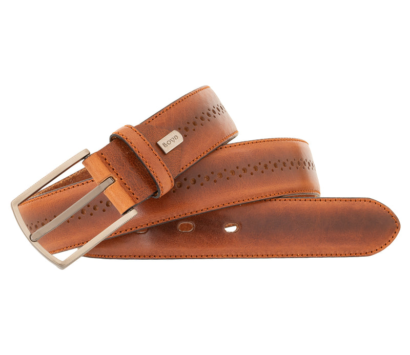 LLOYD Men's Belts − Gürtel - Herrengürtel - Vollrindleder - Brandy