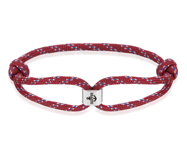 Skipper − Surferband - Armband - Bordeaux/Blau