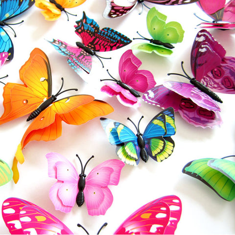 Butterfly Double-Layer Wall Stickers - Life with Lemons
