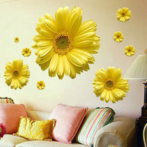 Sun Flowers Decorative Combination Wall Sticker - Life with Lemons