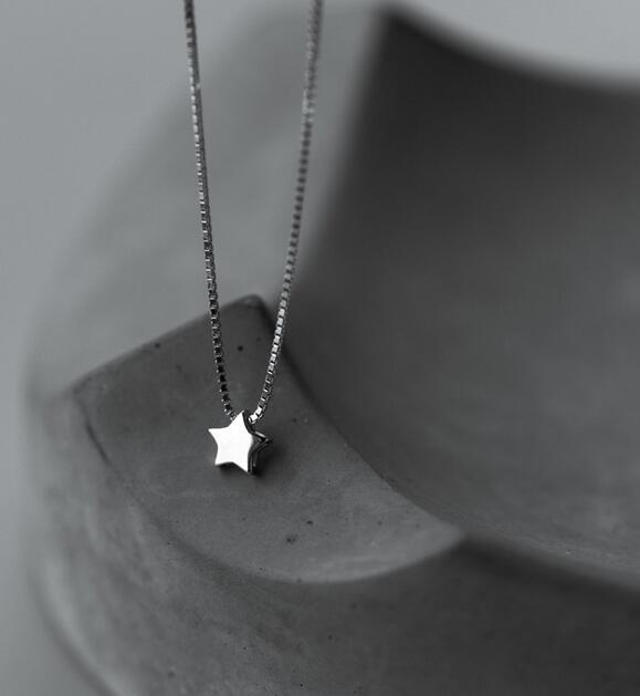 Sterling Silver Star Choker Necklace