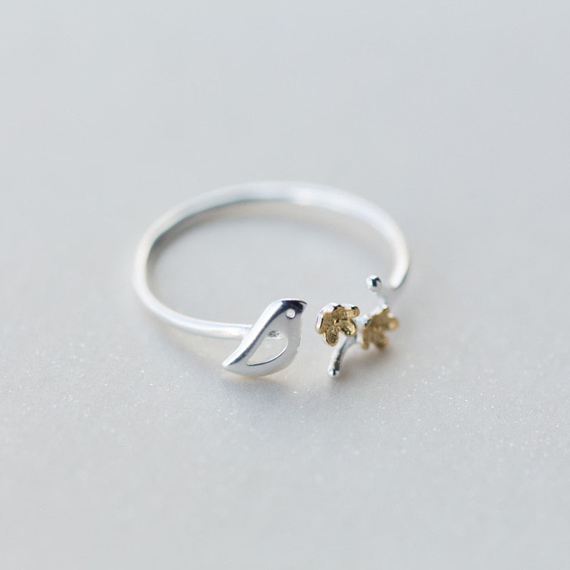 Sterling Silver Small Bird Ring