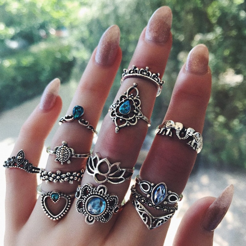 Sri Lanka Style Bohemian Ring Set