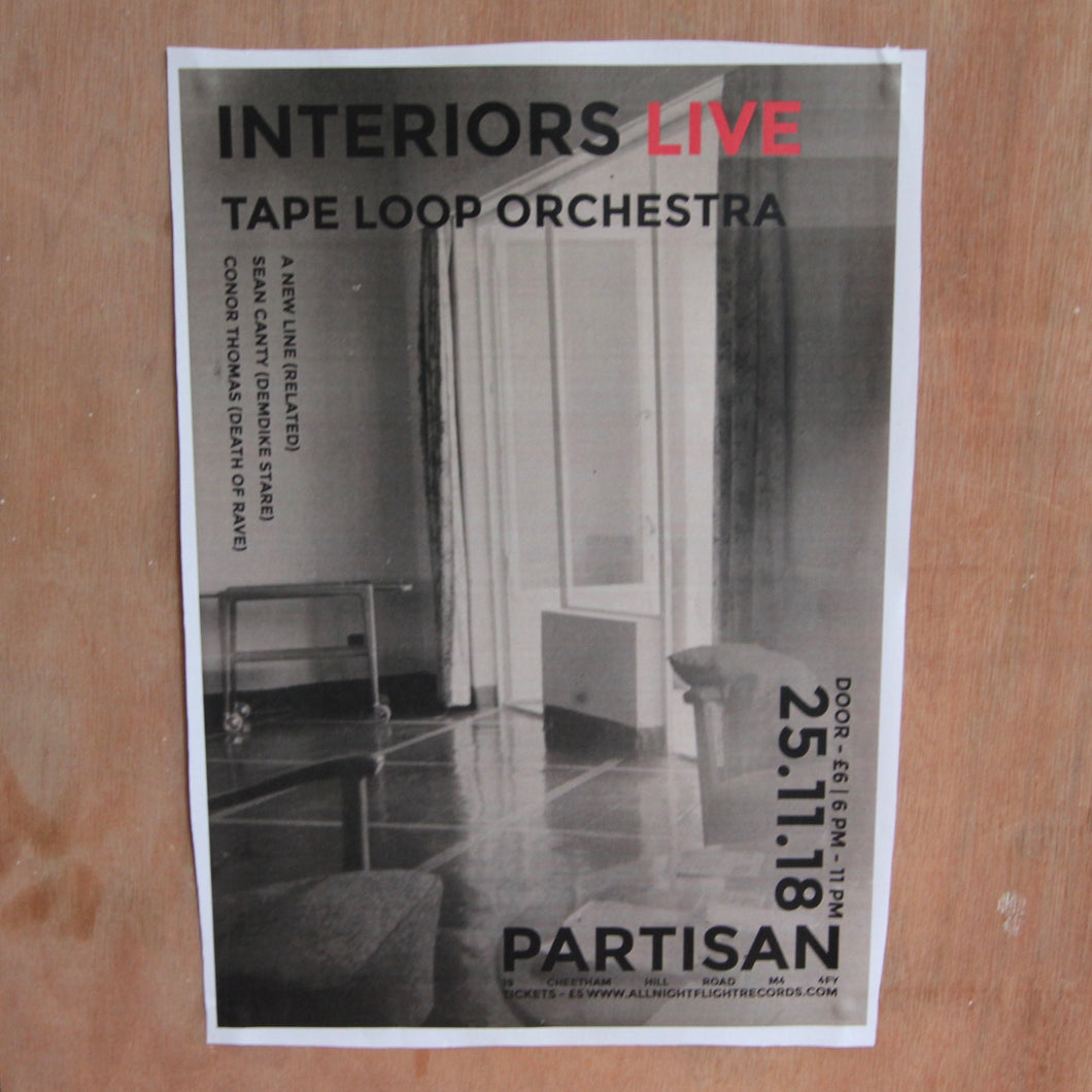 Event Ticket - Tape Loop Orchestra Pres. Interiors Live (+ Support from Sean Canty, Conor Thomas, A New Line (Related)).