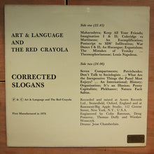Art & Language And The Red Crayola ‎– Corrected Slogans
