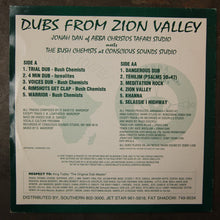 Jonah Dan Meets The Bush Chemists ‎– Dubs From Zion Valley