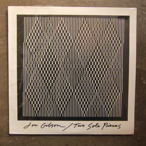Jon Gibson  ‎– Two Solo Pieces (sealed)