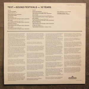 Various ‎– Text-Sound Festivals 10 Years
