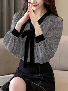 Chiffon bottoming shirt v-neck new top