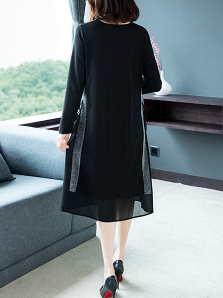 Plus size base knitted skirt temperament loose dress