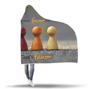 I Have God's Favor - Sherpa Hooded Blanket (2 sizes)