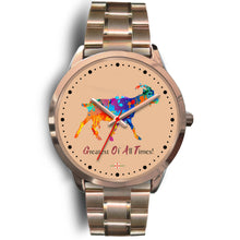 Load image into Gallery viewer, Being StubBORN to be G.O.A.T. - Rose Gold Watch (10 band options)