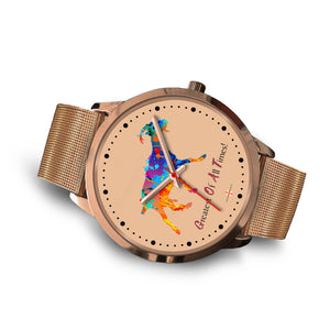 Being StubBORN to be G.O.A.T. - Rose Gold Watch (10 band options)