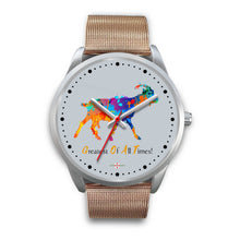Load image into Gallery viewer, Being StubBORN to be G.O.A.T. - Silver Watch (10 band options)