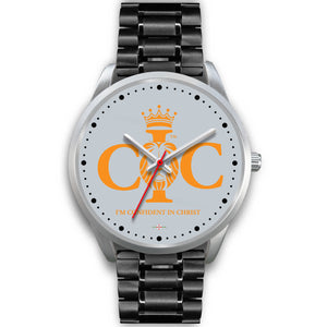 Confident In Christ - Silver Watch (10 band options)