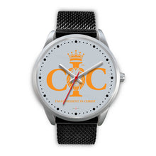 Load image into Gallery viewer, Confident In Christ - Silver Watch (10 band options)