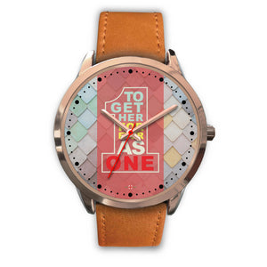 Together Forever As One - Rose Gold Watch (10 band options)