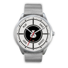 Load image into Gallery viewer, Save-Invest-Give-Play - Silver Watch (10 band options)